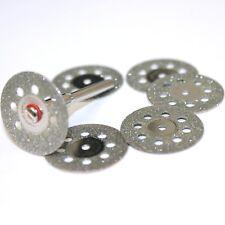 6x Diamant - Disque de Coupe Perforé 22mm + Thorn pour Dremel/Proxxon/D28