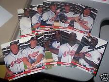 Lot of 10 2003 Cleveland Indians Post Cards / Postcards