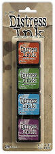 Tim Holtz - Distress Mini Ink Kit - Ranger 4 Dye Pads Acid Free Non Toxic Kit #2