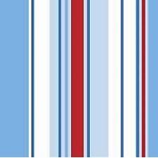 Holden Decor Wallpaper Poppins Stripe Wallpaper Blue / Red / White - 10666
