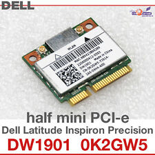 Wi-Fi WLAN WIRELESS CARD scheda di rete PER DELL MINI PCI-E 0K2GW5 DW1901 NEW