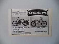 advertising Pubblicità 1981 MOTO OSSA 350 TRIAL/250 ORANGE