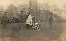 Turnham Green ? Presenting Colours to Middlesex Cadets 1918. Card by B Woodhouse
