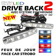 2 FEUX DAYLIGHT LED E4 REVERSIBLE PACE CAR CALANDRE FORD RANGER 2.5