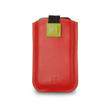 DuDu Custodia iPhone SE/5S/5/4S/4 in vera pelle Rosso multicolore con Pull Up