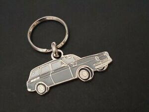 Key Ring Profile Volkswagen Variant Type 3, Kombi 1500 1600 Typ (Grey)