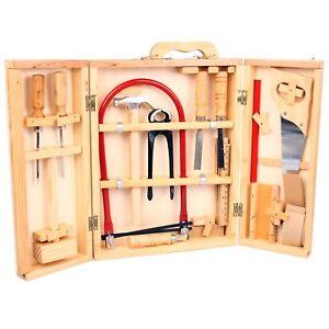 Simon Kinder Werkzeug Laubsäge Werkzeugkasten Holz Werkzeugkoffer 17-tlg Zubehör