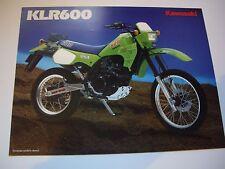 Kawasaki KLR600 sales brochure