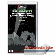 Pack of 100 Bags BCW Resealable Bag For Graded Comics - 8.5 X 13 7/16 (#873)