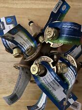 Set of 10 Orbit Brass Pop Up Sprinkler Heads Models 54070 - 54071 - 54072