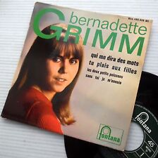 BERNADETTE GRIMM French 4 song 1965 Mod beat Popcorn EP Picture Sleeve 45 e5750