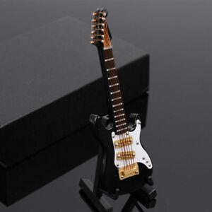 Mini E-Gitarre Modell Dekoration Musikinstrumente mit Koffer und Stän TM