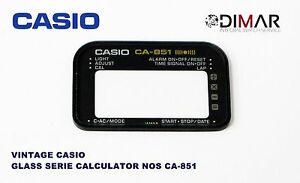 Replacement Vintage Glass/ Glass Casio CA-851 NOS