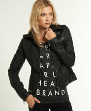 Superdry Womens Saint Tall Leather Jacket