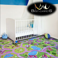 CHILDREN'S CARPET SWEET TOWN Street Town Kids Play Area Bedroom Rug ANY SIZE