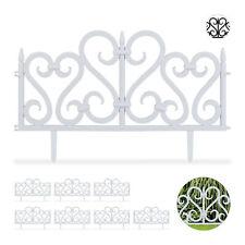8 tlg. Beetzaun Set Ornament Dekozaun Rasenzaun Wegbegrenzung Beetbegrenzung