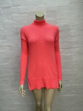 K16 Gap Pure Cable Knit Jumper Neon Pink Turtle Neck BNWT
