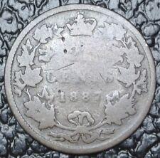 1887 CANADA - 25 CENTS SILVER - Victoria - KEY DATE