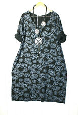 Moonshine Tunika Bluse Gr. 46 48 50  Lagenlook  Gr. 2 Rosen Schwarz