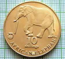 BIAFRA NIGERIA 10 SHILLINGS 2017 INDIAN ELEPHANT 32mm UNC COIN