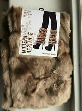 Modern Heritage fashion leg warmer Tan one size $25.00