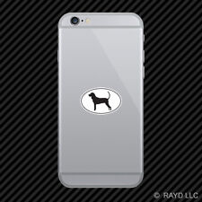 American Black and Tan Coonhound Euro Oval Cell Phone Sticker Mobile Die Cut