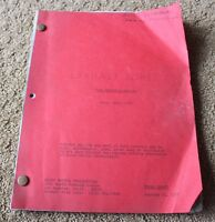 Barnaby Jones  ORIGINAL SET USED TV SHOW SCRIPT  THE DEADLY VALENTINE