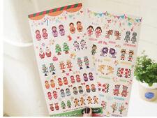 2 sheet Matryoshka doll paper Crafts decoration stationery album diary stickers