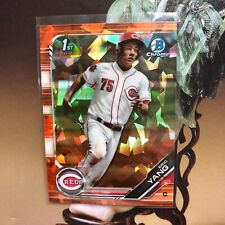 2019 Bowman Draft Chrome Sapphire Eric Yang Orange Refractor Ref RC #/25 Reds