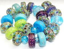 "Sistersbeads ""C-Daydream"" Handmade Lampwork Beads"