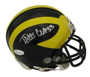Taco Charlton Autographed/Signed Michigan Wolverines Mini Helmet JSA 21554