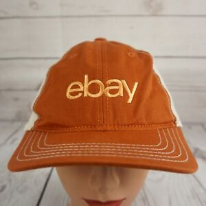 Ebay Stitched Adjustable Trucker Hat Burnt Orange with Tan Mesh Pre-Owned ST212