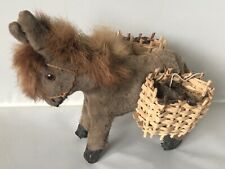 More details for antique 1950s jays made in ireland donkey toy, real fur mane, glass eyes. b6