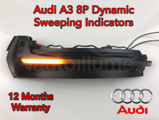 Audi A3 8P Sweeping Dynamic LED Wing Door Mirror Indicator Light Lamp Smoked