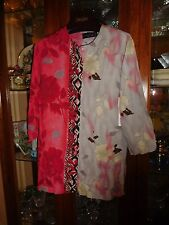 Jams World FAB XS New NWT RARE L/S Elegant Top Shirt Tahiti Rose Gray Blck Asian