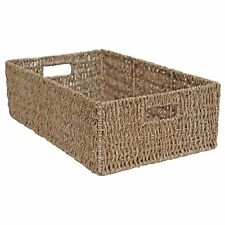 Seagrass Wicker Storage Basket Shelf Drawer Rectangular Long (large - L 56 X