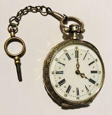 Montre gousset Vintage Argent  Cylindre 10 Rubis  fonctionnelle  gusset watch