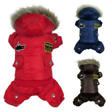 Pet Dog Winter Hooded Jacket Coat Apparel Puppy Warm Jumpsuit Clothes Costume