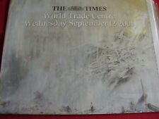 TWIN TOWERS WORLD TRADE CENTRE NEW YORK  SEPT 12 2001 TIMES NEWSPAPER SUPPLIME