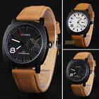 CURREN Men's Fashion Sport Watches Men Military Leather Band Quartz Wrist Watch