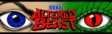 Sega Altered Beast Arcade Marquee For Reproduction Header/Backlit Sign