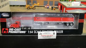 DCP#33546 BLANK RED IH 9200 SEMI DAY CAB TRUCK & WILSON GRAIN TRAILER 1:64/CL