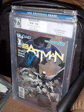 Batman #1 PGX SS 9.6 Signed Greg Capullo 1st Print, new 52 Detective CGC
