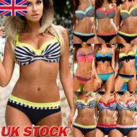 Womens Padded Push-up Bikini Set Swimsuit Bathing Suit Swimwear Beachwear UK