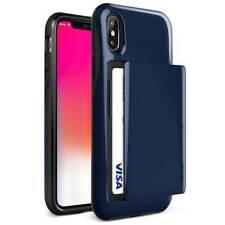 VRS Design Damda Glide Wallet Case for iPhone X - Deep Sea Blue