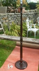 Beautiful Vintage  Wooden  Standard Lamp base.