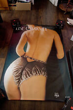 LISE CHARMEL 11 4x6 ft Bus Shelter Original Vintage Sexy Advertising Poster