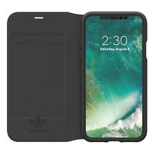 Adidas Originals Basic Logo Booklet Case suits iPhone X - Black/White BRAND NEW
