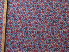 Jersey mit Blümchenmuster in rosa, blau, rot, grün, gelb ... 1 Meter, Meterware