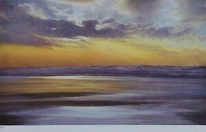 "WENDY CORBETT ""Golden Sky"" HAND SIGNED LIMITED EDITION UK ARTIST 17"" x 26"""